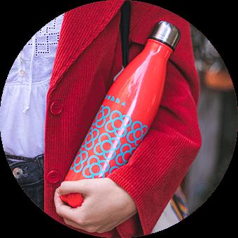Botón para elegir botella Panot #BCN rojo